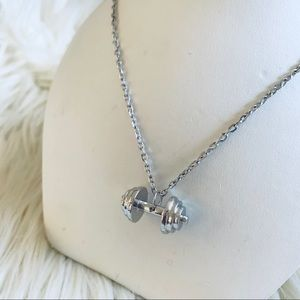Jewelry - Silver Dumbbell Necklace